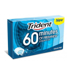 CHICLE TRIDENT GRAGEA 60 MINUTES PEPPERMINT 20GR