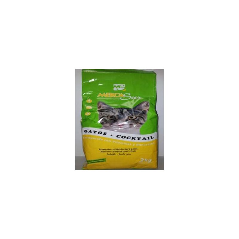 COMIDA GATOS MERCASUR COCKTAIL B/2 KG