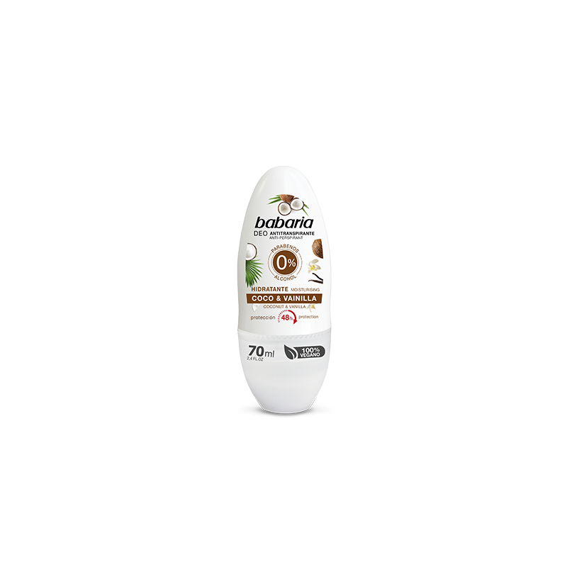 DESODORANTE BABARIA 0% COCO & VAINILL ROLL-ON 70ML