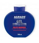 GEL BAÑO AGRADO SALES MARINAS B/750 ML.