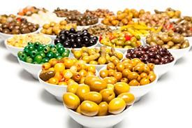 Aceitunas, encurtidos, frutos secos y aperitivos